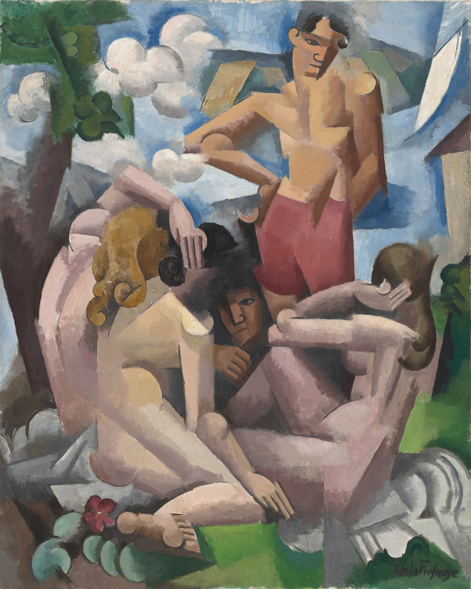 Roger-Noël-François André de La Fresnaye | Le Baigneurs | 1912 |  © Washington, National Gallery of Art